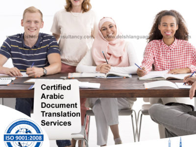 Certified Arabic Document Translation services in India